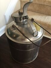 Vintage Protectoseal Co. Chicago, 5 Gallon Stainless Pail F5005A, Steampunk!