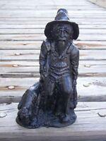 Hunter with Dog Hand-Crafted Kentucky Coal Figurine ~ Folk Art ~ New