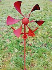 Spinning Metal Windmill Flower Garden Stake Yard Art Landscape Outdoor Decor
