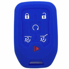 Blue Rubber Key Fob Case Cover Keyless Remote fit for GMC S675