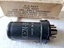 6SH7 Ken-Rad US Navy  Valve Tube  New Old Stock 1pc NOV18