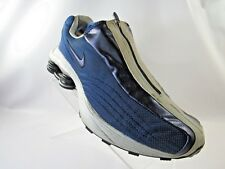 NIKE SHOX R4 104311-411 Size 11 M Blue Zip Up VINTAGE 2001 Running Mens Shoes