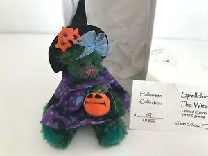 "Deb Canham, Halloween SPELLCHICK THE WITCH  4"" Bear - PRISTINE in Box w/Tag"
