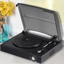 Belt Drive 3 Speed Record Player RCA Output Turntable Stereo Headphone Jack