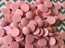 20pc. Pink resin candy M&M's, flatback, cabochon, scrapbooking, kawaii