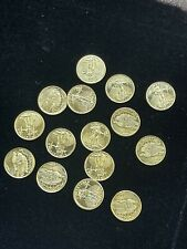 """SOLID 24K GOLD """"Mini St. Gaudens Coin Dated 1908 .3 Grams each"""