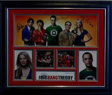 THE BIG BANG THEORY CAST SIGNED LIMITED EDITION FRAMED MEMORABILIA
