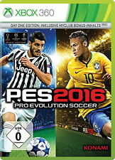 Pro Evolution Soccer 2016 -- Day One Edition (Microsoft Xbox 360, 2015, DVD-Box)