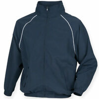 mens track top TOMBO TL400 activewear jacket zip windbreaker athletic sports gym