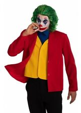 Clown Joker Costume & Wig Jester Fancy Dress Halloween Adult Mens Medium NEW