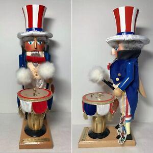 Steinbach Nutcracker AMERICA THE BEAUTIFUL Uncle Sam Musical Adler S1784 w/ Box