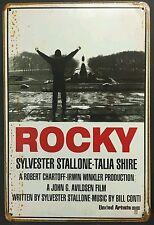 Rocky Film Rétro Vintage Métal Signe Maison Garage Atelier PUB Studio