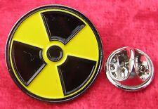 Radiation Symbol Lapel Hat Tie Cap Pin Badge Radioactive Nuclear WMD Brooch