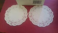 """SMITH-LEE WHITE FRENCH LACE PAPER DOILIES 5"""" ROUND WEDDINGS/PASTRY (( 1,000 ))"""