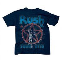 RUSH STARMAN TOUR 1978 CLASSIC ROCK BAND MUSIC NEW WAVE BLACK T TEE SHIRT S-2XL