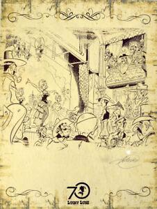 Lucky Luke Druck 30x40cm, limitiert auf 222 & handsigniert v. Achdé, Egmont