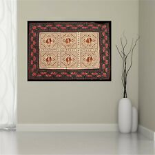 Sanskriti Vintage Kutch Work Wall Hanging Cotton Bedspread Tapestry Home Decor