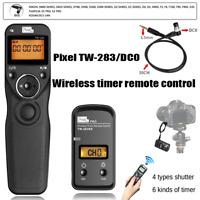 Pixel TW-283 DC0 LCD WIFI Timer Remote Control Shutter For Nikon Fujifilm Kodak