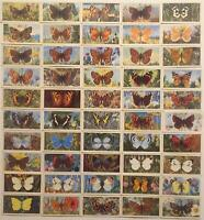 Brooke Bond British Butterflies Vintage Card Set 50 Cards Blue Backs
