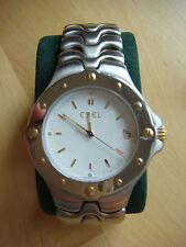 Ebel Sportwave Armbanduhren aus Edelstahl mit Datumsanzeige