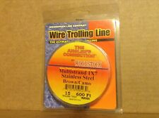 Woodstock Line Wire Trolling Line Multistrand 1x7 Steel Brown/Camo15 Test 600 ft