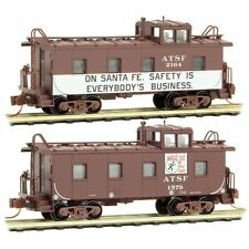 N Scale Atsf Safety Caboose 2-Pack - Micro-Trains Line #10000370