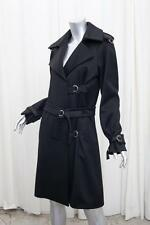 JIL SANDER Womens Black Wool+Cashmere Long-Sleeve Buckle Coat Jacket 36/4 S