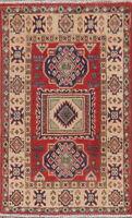 Traditional Super Kazak Geometric Oriental Area Rug Wool Hand-knotted 2x3 Carpet