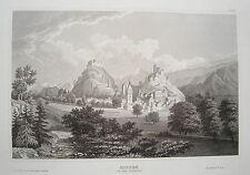 Sitten  Schweiz  seltener echter  alter  Stahlstich  1838 Nr2
