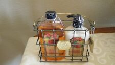 Bath & Body Works MERRY MANGO Shower Gel and Lotion  WITH  METAL  CARRIER