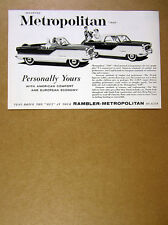 1960 Rambler Metropolitan 1500 convertible & hardtop cars vintage print Ad