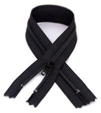 10 - YKK #3 Coil Zipper, 13.5 inch length, Black 580