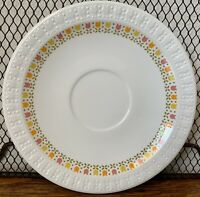 "Vintage Centura By Corning APRIL TULIP Multi Color 6"" Saucer Plate Replacements!"