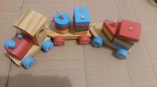 Tren De Madera, a lo largo de empuje, desmontar & reconstruir, conjunto de juego tradicional, 12 pulgadas