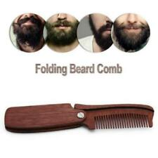 Folding Wood Comb Anti Static Wooden Styling Mustache Head Hair Beards Gift JJ