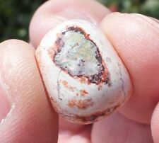 Free form Mexican Fire Opal Cabachon with Red and Green Color