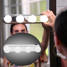 Vanity Portable 4 LED Bulbs Super Bright Cosmetic Make Up Mirror Light Lamp Fine