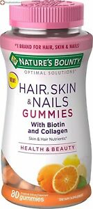 Nature's Bounty Optimal Solutions Hair, Skin & Nails with Biotin & Collagen 80ct