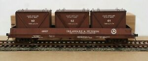 """Main Line Models O Delaware & Hudson 46'10"""" LCL Container car Built Boxed NICE!"""