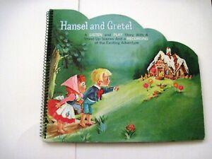 "Adorable Vintage Pop-up Children's Book ""Hansel & Gretel"" w/ Stand-Up Scenes *"