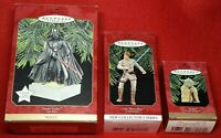 HALLMARK STAR WARS 1997 DARTH VADER LUKE SKYWALKER YODA ORNAMENT *NRFB*