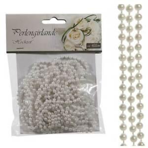 mit ca glänzend 60 Perlen 1,5 Meter !!! Perlengirlande matt