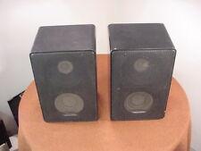 Vintage Realistic Minimus 11 Metal Cabinet Stereo Speaker Pair