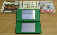 Nintendo DSi XL Green Handheld System Working with 4 Games