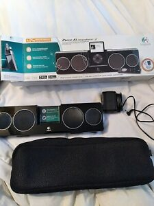 Logitech Pure-Fi Anywhere 2, Black Compact Docking Speakers w/case