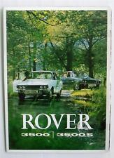 ROVER 3500 & 3500S Car Sales Brochure 1972 FRENCH TEXT #815/French/9.71