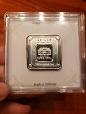 GEIGER Edelmetalle - 1 troy oz .999 Fine Silver Square Bar Encapsulated W/Assay