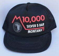 10,000 SILVER DOLLAR BAR MONTANA Adjustable Snapback Trucker Baseball Cap Hat