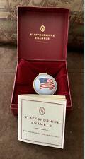 Staffordshire Enamel American Flag Trinket/Pill/Snuff Box Like Halcyon Days