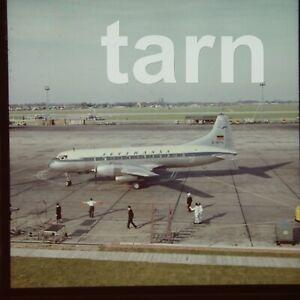 60 x 60 glass slide  aeroplane aircraft plane Lufthansa c1950s r23